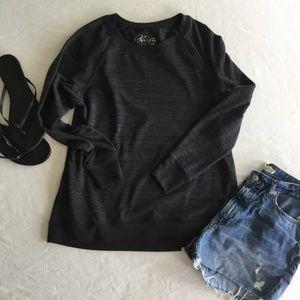 Tops - Zippered Shoulder Sweatshirt Pullover